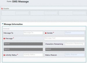 SMS Message Form